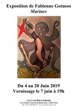 Exposition Fabienne gotusso - juin 2019 - affiche